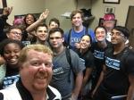 Senior Leadership Meeting All Stuffed In Mr. L's Office!